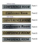 Conference Room  Door Nameplate | slide in or fixed room sign
